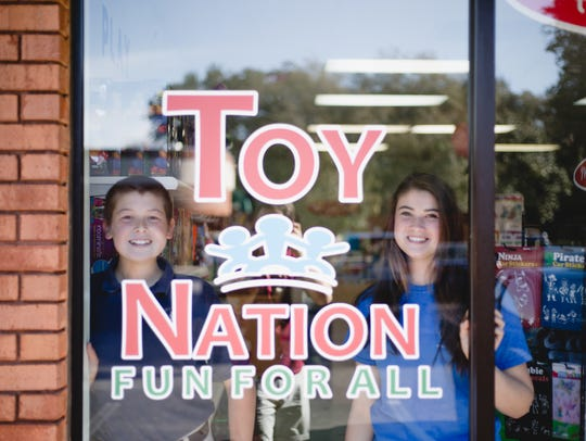 Toy Nation is offering free glitter tattoos Saturday.
