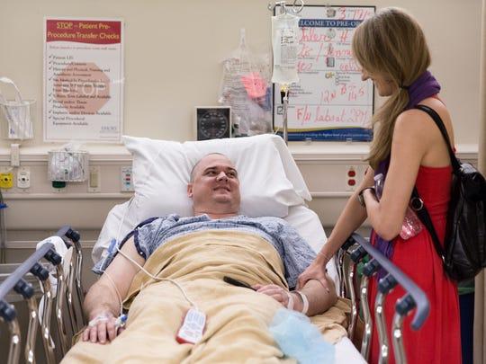 Josh prepares to have his tumor removed.