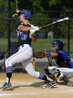 Matt Carovillano of Middlessex hits a home run against Shore Regional during the 2015 NJSIAA Central Group I championship game.