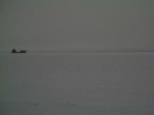 Mille lacs awaits ice thick enough to support fishing for Lybacks ice fishing