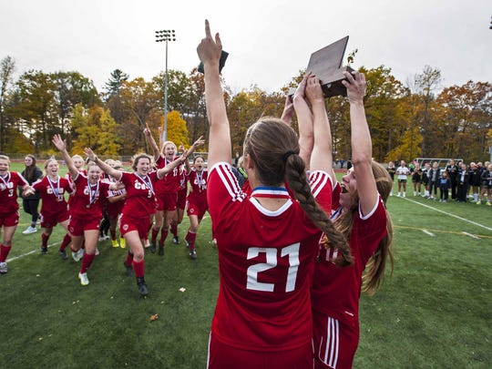 Exacting revenge on the teams it lost to during the regular season, the Champlain Valley Union High School girls soccer team became the first Division I team to win five straight titles.