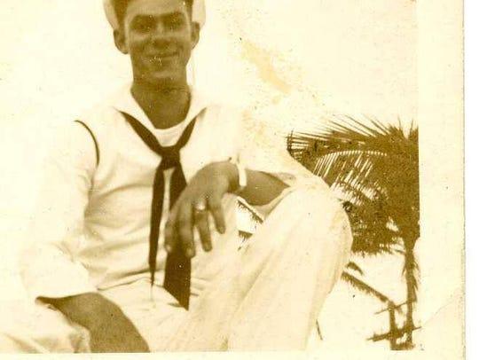 Bobby D. Barnett in the Pacific, 1945.