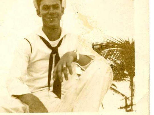 Bobby D. Barnett in the Pacific, 1945.
