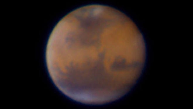 Chuck Pavlick captured this image of Mars using his telescope at his Southwest Florida home.