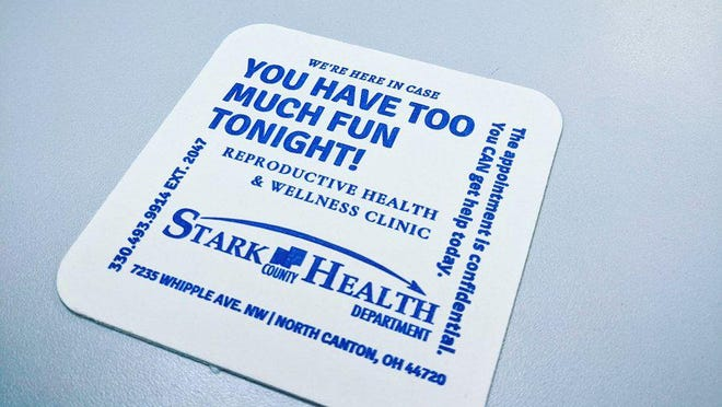 The Stark County Health Department is rethinking the message on its new coasters following backlash.