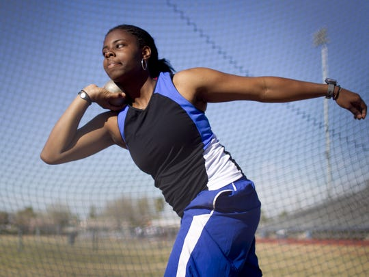 Hannah Carson was a star shot putter at Chandler High