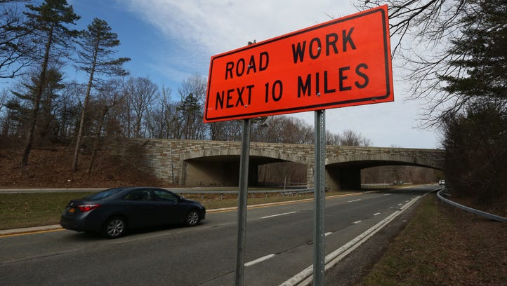 The Palisades Interstate Parkway near Exit 12 March