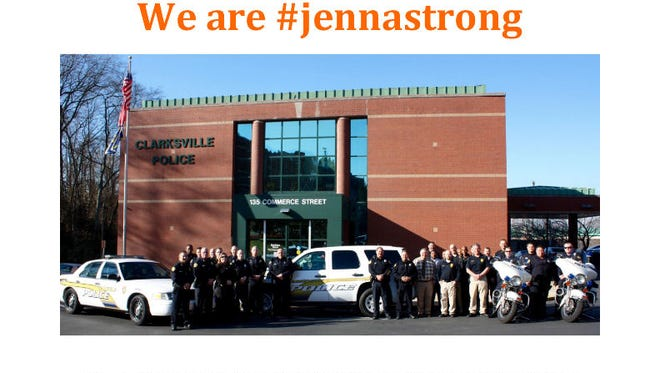 CPD gathered for this photo shoot to support Jenna King.
