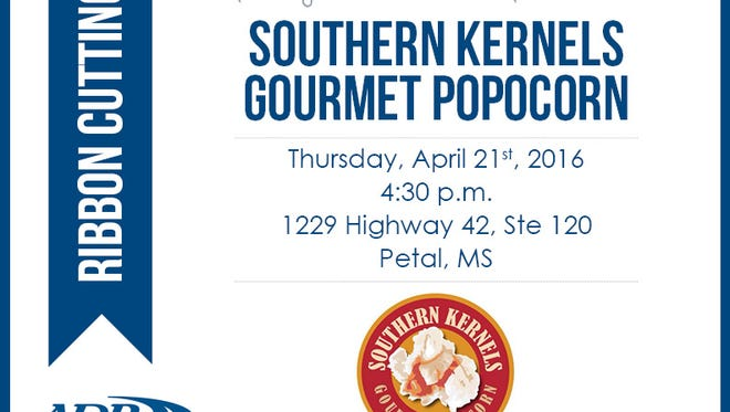 Southern Kernels Gourmet Popcorn will hold a ribbon cutting April 21.
