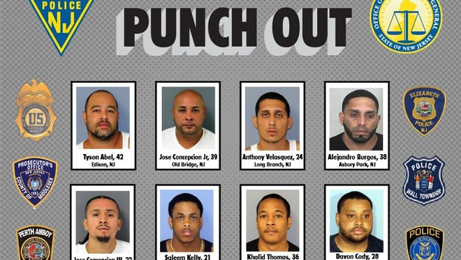 An eight-month operation took down a two-county drug trafficking ring, police say.