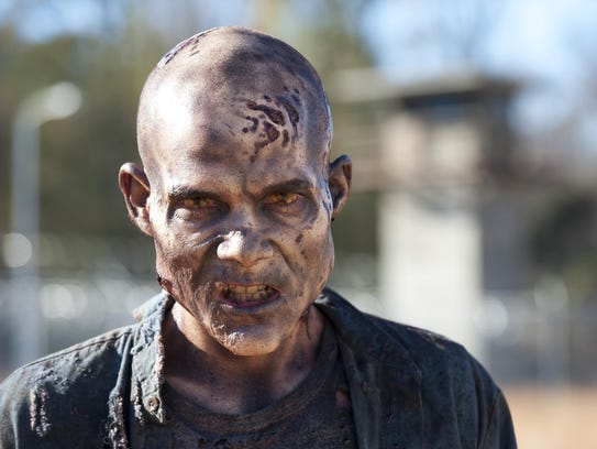 "A walker from Season 3 of the TV series, ""The Walking"