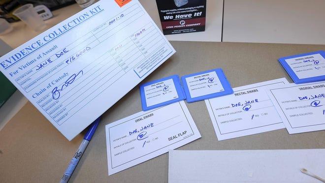 A sample rape kit.