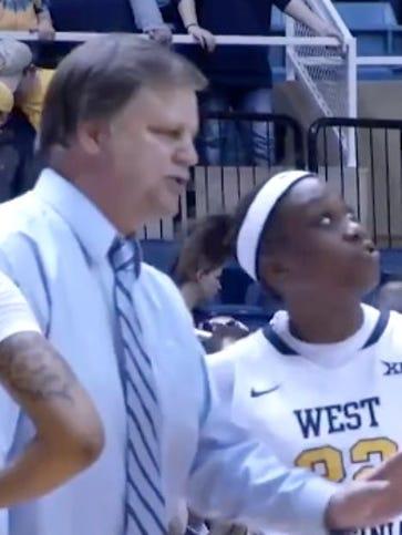 WVU coach Mike Carey