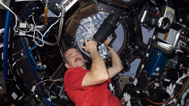 Col. Chris Hadfield aboard the International Space Station on Expedition 34.