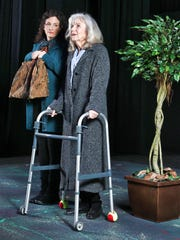 """Sierra Hall, left, and Susan Muhrer star in the Santa Paula Theater Center's production of """"This Random World,"""" on stage through March 11."""