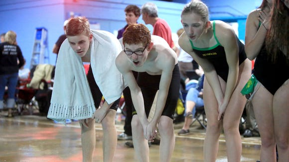 Reynolds was one of the teams in Friday's Buncombe County High School Championship swim meet in Skyland.