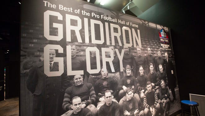 """The NFL loaned """"Gridiron Glory"""" to the Arizona Science Center in conjunction with Super Bowl XLIX. It  runs until Sunday, May 3."""
