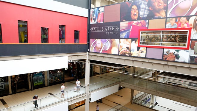 Shoppers at the Palisades Center mall in West Nyack are shown in this file photo.