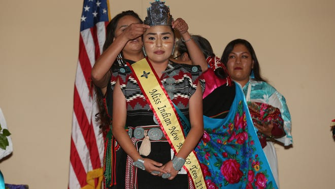 Seventeen year old Shenoa Jones is crowned as the new Miss Indian New Mexico Teen III in October at the Albuquerque Convention Center. Jones is a senior at Piedra Vista Hight School.