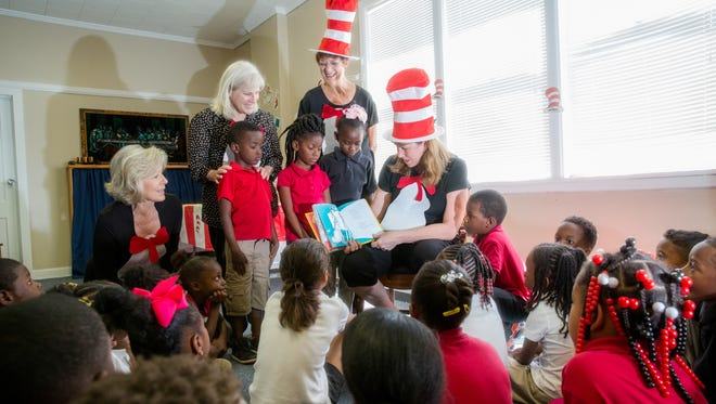 Members of the Pensacola Alumnae Club of Pi Beta Phi Fraternity for Women threw a Dr. Seuss-themed party March 31 at Dixon School of the Arts with crafts, games, favors and snacks all tied to books written by the famous children's author.