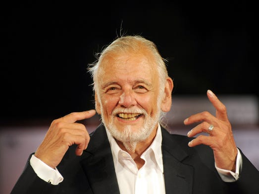 US Director George A. Romero poses on the red carpet