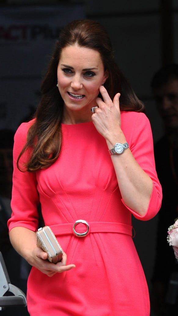 Duchess Kate in coral pink
