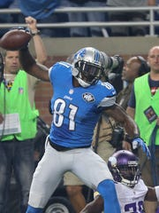 Lions wide receiver Calvin Johnson