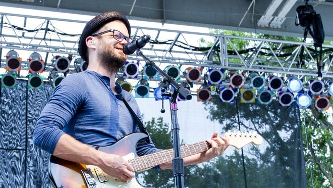 Josh Kaufman played a mix of cover songs and original tunes at the Indiana State Fair.