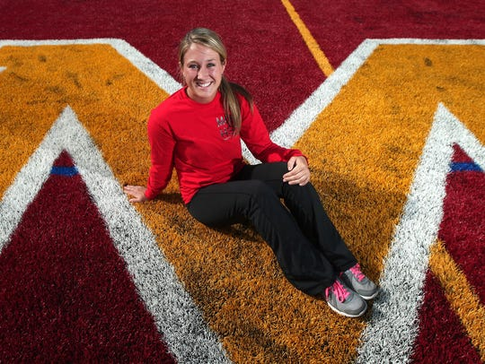 Morgan Lowrey, a 19-year-old Rutgers cheerleader who