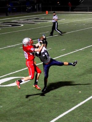 SJCC's Zach Militello catches a pass against Lakota last season.