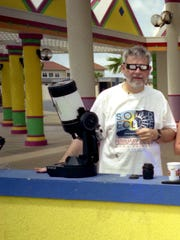 Chap Percival watched the eclipse from Aruba in 1998.