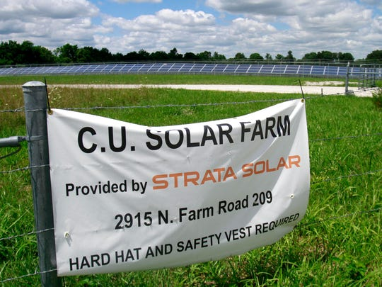 A 40-acre solar farm northeast of Springfield began