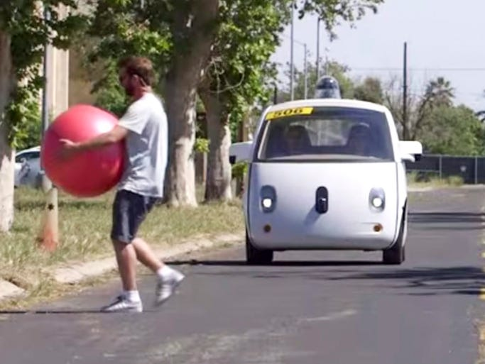 The Google self-driving car is supposed to be able