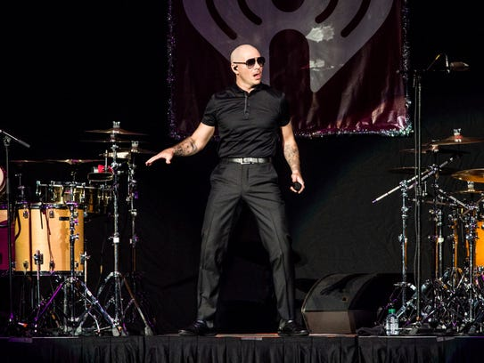Pitbull performs at 93.3 FLZ FM's Jingle Ball at Amalie