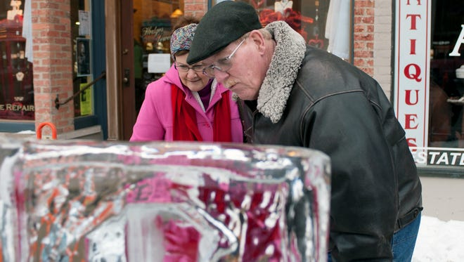 Ice sculptures return to downtown Marshall Feb. 2-3 for the Ice, Wine, Beer and Blues Festival.