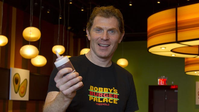 Chef Bobby Flay, pictured at Bobby's Burger Palace in Freehold Township, returns to New Jersey for Savor Borgata.