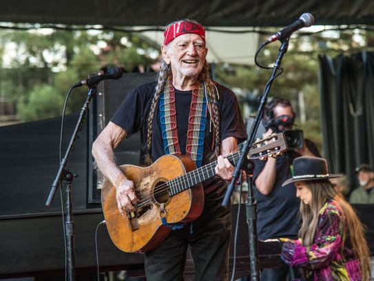 Willie Nelson performs at the 30th annual Bridge School