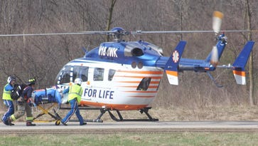 Flight for Life on scene after Lisbon motorcycle accident leaves 2 injured