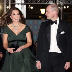 Did Duchess Kate join the black-dress movement at BAFTAs? Sort of ...