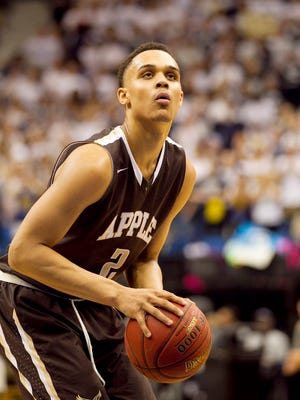 Apple Valley, Minn., forward Gary Trent Jr. in the Class 4A boys state high school championship basketball game March 14, 2015 in Minneapolis.