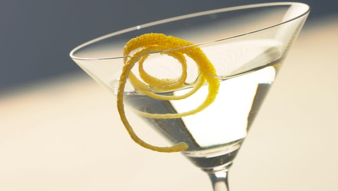 Martini and glass