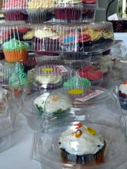 Aimee Blume / Special to The Courier & Press Get your beautifully-decorated cupcakes here! These gorgeous goodies were for sale at the 2015 Ultimate Bake Sale.