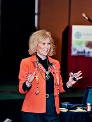 Speaker Michele Matt has sold her books and videos.