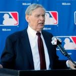 MLB Commissioner of Baseball Bud Selig speaks with the media during a news conference at the Major League Baseball owners meeting on Thursday in Phoenix.