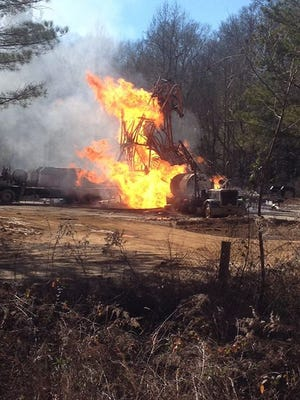 Smith County natural gas well fire