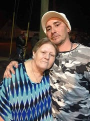 Michael Sautter, right, is shown with his mom, Wanda
