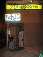 Blues on Grand owner Jeff Wagner outside the club.
