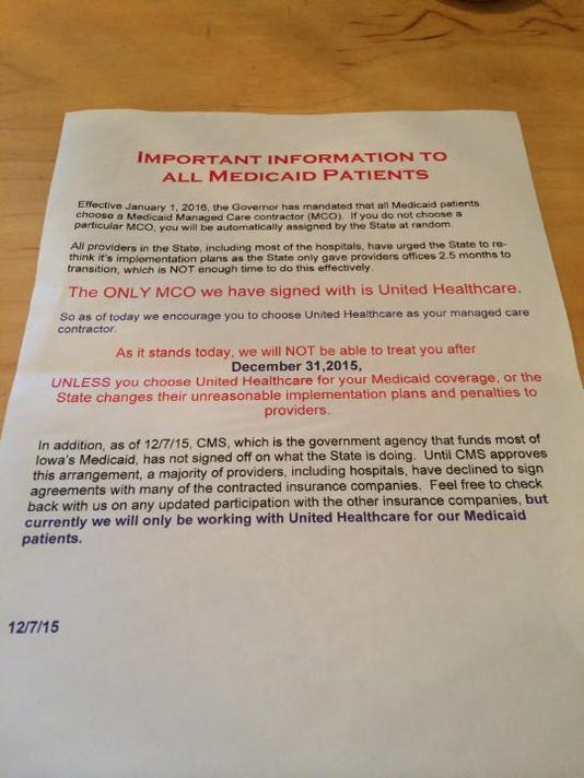 Medicaid warning letter