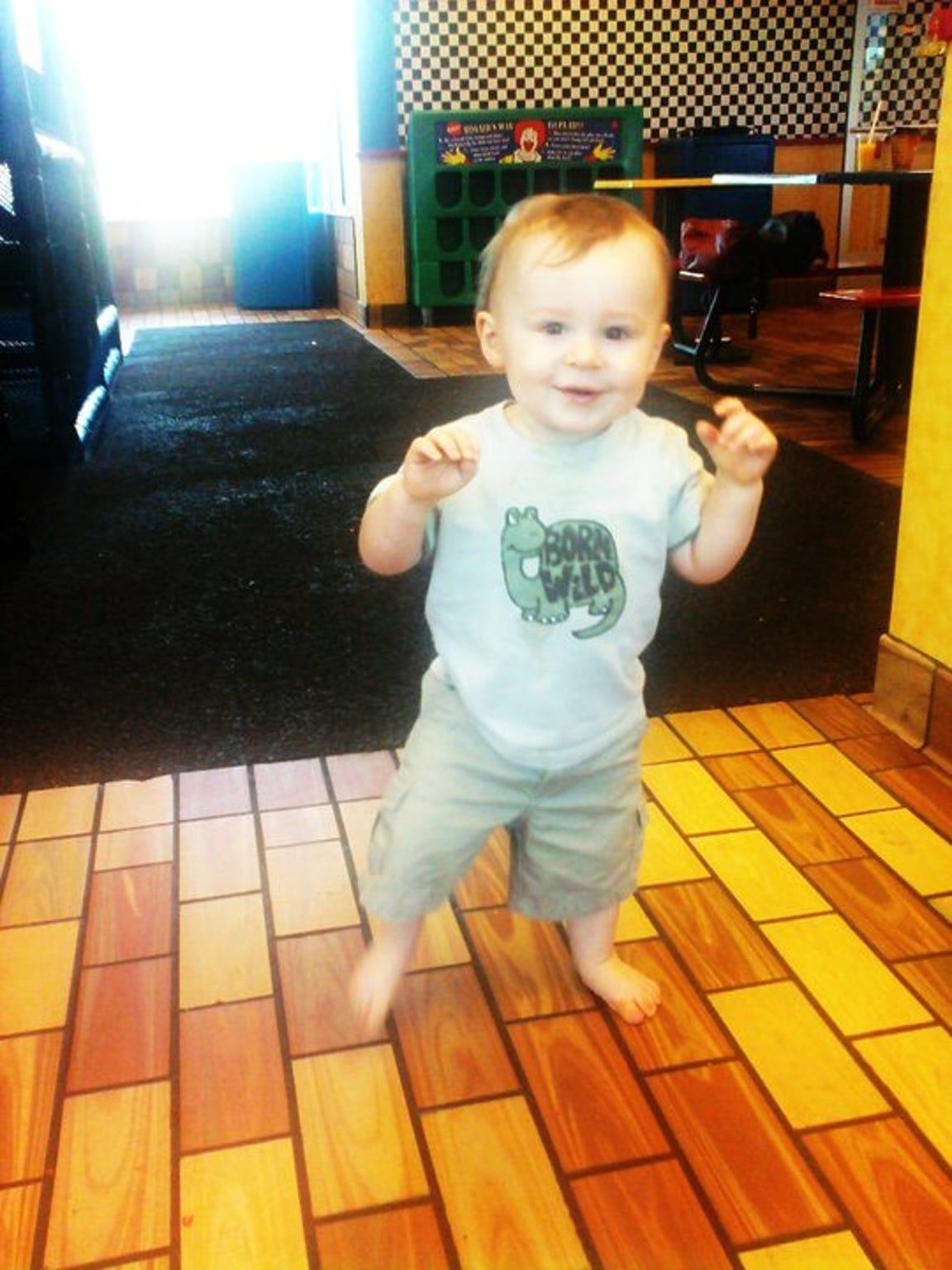 Jayden was a healthy and happy baby.