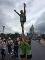 The West Morris Mendham High School Competitive Cheerleading team competing at the 2016 Universal Cheerleading Association's National High School Cheerleading Championships in Orlando, Florida on Feb. 7 and 8.
